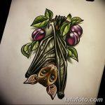 фото Эскизы тату летучая мышь от 27.09.2017 №013 - Sketches a bat tattoo - tatufoto.com