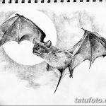фото Эскизы тату летучая мышь от 27.09.2017 №018 - Sketches a bat tattoo - tatufoto.com