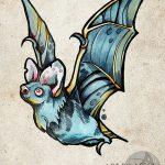 фото Эскизы тату летучая мышь от 27.09.2017 №021 - Sketches a bat tattoo - tatufoto.com