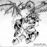 фото Эскизы тату летучая мышь от 27.09.2017 №022 - Sketches a bat tattoo - tatufoto.com