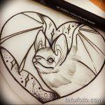 фото Эскизы тату летучая мышь от 27.09.2017 №024 - Sketches a bat tattoo - tatufoto.com