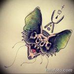 фото Эскизы тату летучая мышь от 27.09.2017 №029 - Sketches a bat tattoo - tatufoto.com