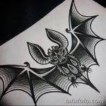 фото Эскизы тату летучая мышь от 27.09.2017 №031 - Sketches a bat tattoo - tatufoto.com