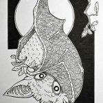 фото Эскизы тату летучая мышь от 27.09.2017 №032 - Sketches a bat tattoo - tatufoto.com