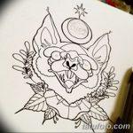 фото Эскизы тату летучая мышь от 27.09.2017 №033 - Sketches a bat tattoo - tatufoto.com