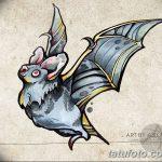 фото Эскизы тату летучая мышь от 27.09.2017 №034 - Sketches a bat tattoo - tatufoto.com
