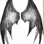фото Эскизы тату летучая мышь от 27.09.2017 №036 - Sketches a bat tattoo - tatufoto.com