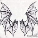 фото Эскизы тату летучая мышь от 27.09.2017 №038 - Sketches a bat tattoo - tatufoto.com