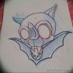 фото Эскизы тату летучая мышь от 27.09.2017 №041 - Sketches a bat tattoo - tatufoto.com