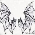фото Эскизы тату летучая мышь от 27.09.2017 №043 - Sketches a bat tattoo - tatufoto.com