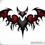 фото Эскизы тату летучая мышь от 27.09.2017 №046 - Sketches a bat tattoo - tatufoto.com
