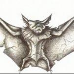 фото Эскизы тату летучая мышь от 27.09.2017 №047 - Sketches a bat tattoo - tatufoto.com
