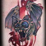 фото Эскизы тату летучая мышь от 27.09.2017 №048 - Sketches a bat tattoo - tatufoto.com