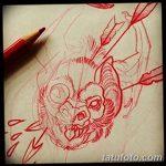 фото Эскизы тату летучая мышь от 27.09.2017 №050 - Sketches a bat tattoo - tatufoto.com