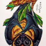фото Эскизы тату летучая мышь от 27.09.2017 №051 - Sketches a bat tattoo - tatufoto.com