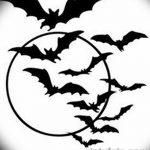 фото Эскизы тату летучая мышь от 27.09.2017 №053 - Sketches a bat tattoo - tatufoto.com