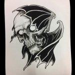 фото Эскизы тату летучая мышь от 27.09.2017 №054 - Sketches a bat tattoo - tatufoto.com