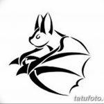 фото Эскизы тату летучая мышь от 27.09.2017 №056 - Sketches a bat tattoo - tatufoto.com