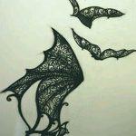 фото Эскизы тату летучая мышь от 27.09.2017 №059 - Sketches a bat tattoo - tatufoto.com