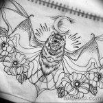 фото Эскизы тату летучая мышь от 27.09.2017 №062 - Sketches a bat tattoo - tatufoto.com