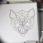 фото Эскизы тату летучая мышь от 27.09.2017 №064 - Sketches a bat tattoo - tatufoto.com