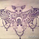 фото Эскизы тату летучая мышь от 27.09.2017 №065 - Sketches a bat tattoo - tatufoto.com