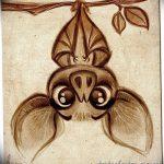 фото Эскизы тату летучая мышь от 27.09.2017 №067 - Sketches a bat tattoo - tatufoto.com
