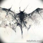 фото Эскизы тату летучая мышь от 27.09.2017 №068 - Sketches a bat tattoo - tatufoto.com