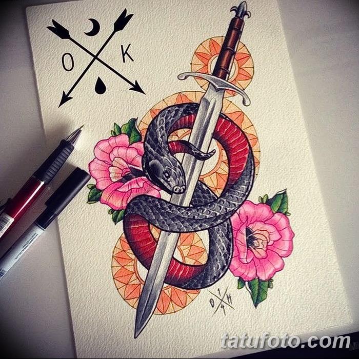 Значение тату кинжал и роза: смысл, история, фото примеры