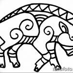фото Эскизы тату свинья (кабан) от 26.09.2017 №002 - Sketches of a pig - tatufoto.com