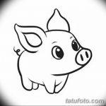 фото Эскизы тату свинья (кабан) от 26.09.2017 №004 - Sketches of a pig - tatufoto.com