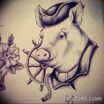 фото Эскизы тату свинья (кабан) от 26.09.2017 №006 - Sketches of a pig - tatufoto.com