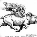 фото Эскизы тату свинья (кабан) от 26.09.2017 №009 - Sketches of a pig - tatufoto.com