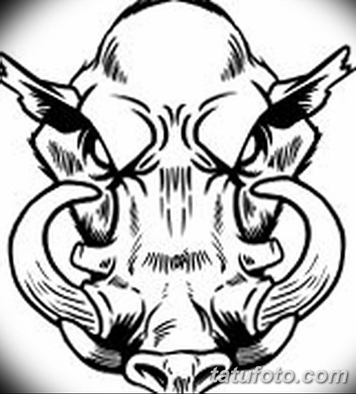 фото Эскизы тату свинья (кабан) от 26.09.2017 №014 - Sketches of a pig - tatufoto.com