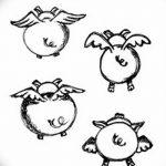 фото Эскизы тату свинья (кабан) от 26.09.2017 №024 - Sketches of a pig - tatufoto.com