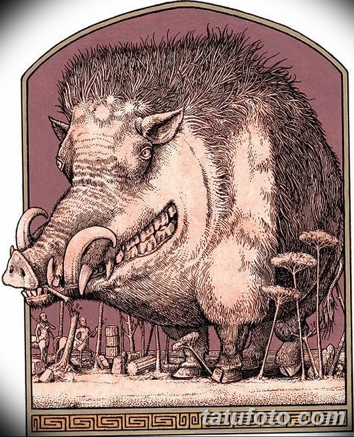фото Эскизы тату свинья (кабан) от 26.09.2017 №026 - Sketches of a pig - tatufoto.com