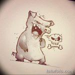 фото Эскизы тату свинья (кабан) от 26.09.2017 №033 - Sketches of a pig - tatufoto.com