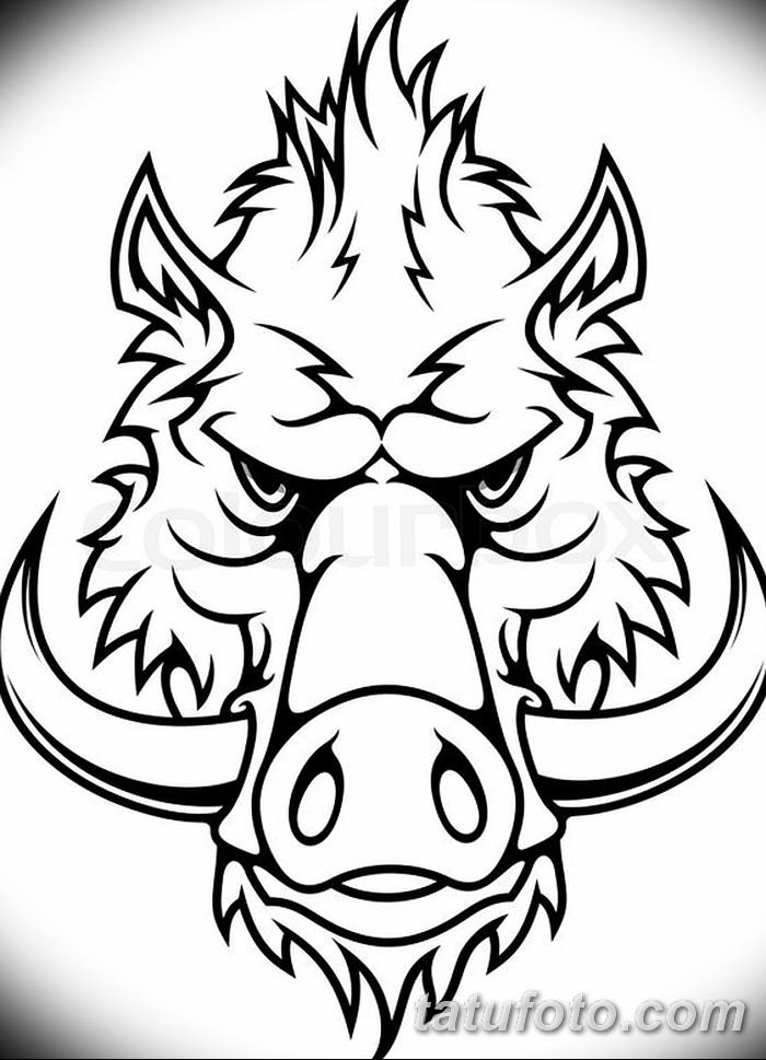 фото Эскизы тату свинья (кабан) от 26.09.2017 №036 - Sketches of a pig - tatufoto.com