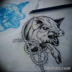 фото Эскизы тату свинья (кабан) от 26.09.2017 №040 - Sketches of a pig - tatufoto.com