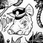 фото Эскизы тату свинья (кабан) от 26.09.2017 №041 - Sketches of a pig - tatufoto.com