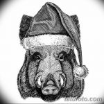 фото Эскизы тату свинья (кабан) от 26.09.2017 №043 - Sketches of a pig - tatufoto.com