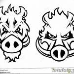 фото Эскизы тату свинья (кабан) от 26.09.2017 №045 - Sketches of a pig - tatufoto.com