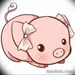 фото Эскизы тату свинья (кабан) от 26.09.2017 №048 - Sketches of a pig - tatufoto.com