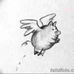 фото Эскизы тату свинья (кабан) от 26.09.2017 №050 - Sketches of a pig - tatufoto.com