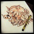 фото Эскизы тату свинья (кабан) от 26.09.2017 №051 - Sketches of a pig - tatufoto.com