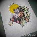 фото Эскизы тату свинья (кабан) от 26.09.2017 №052 - Sketches of a pig - tatufoto.com