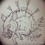 фото Эскизы тату свинья (кабан) от 26.09.2017 №053 - Sketches of a pig - tatufoto.com