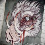 фото Эскизы тату свинья (кабан) от 26.09.2017 №055 - Sketches of a pig - tatufoto.com