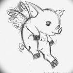 фото Эскизы тату свинья (кабан) от 26.09.2017 №063 - Sketches of a pig - tatufoto.com