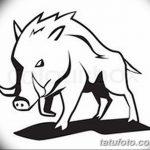 фото Эскизы тату свинья (кабан) от 26.09.2017 №064 - Sketches of a pig - tatufoto.com